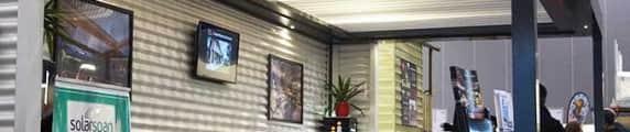 Louver roof verandah display