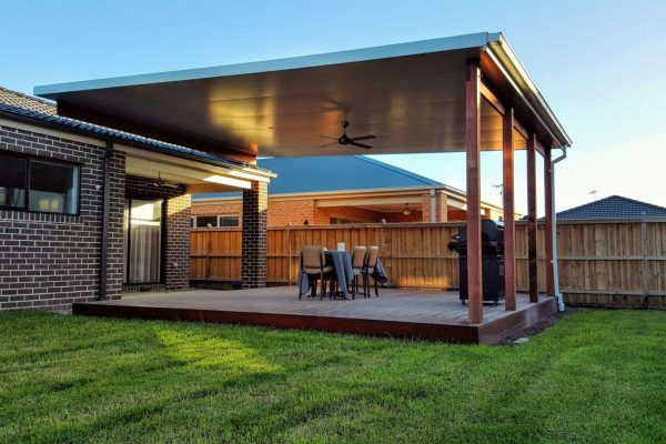 1 Insulated Verandah - Solarspan Roof with Merbau Frame over deck1 - Officer-1920