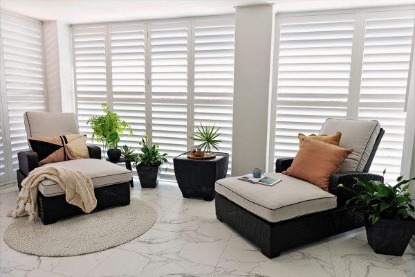 Aluminum Shutters - white-for outdoor room - Australia